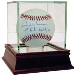 Steiner Sports - HENDBAS000038 - Rickey Henderson Signed MLB Baseball w/ 1st Hit 6/24/79 Insc