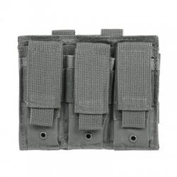 NcSTAR - CVP3P2932U - NcStar CVP3P2932U 5-1/2-Inch VISM Triple Pistol Magazine PALS Pouch, Urban Gray