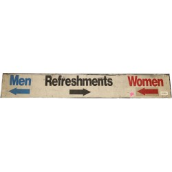 Steiner Sports - YANKSTASN0639 - Men Refreshments Women and arrows Sign from Yankee Stadium 8x48x8