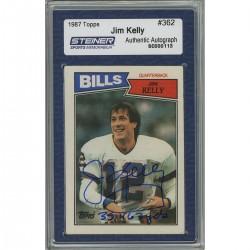 Steiner Sports - KELLCDB000002 - Jim Kelly Signed 1987 Topps Rookie Card w 35467 YdsInsc. (Slabbed by Steiner)