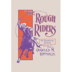 Buyenlarge - 04473-XCG28 - The Rough Riders: An Equestrian Scene 28x42 Giclee on Canvas