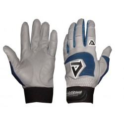 Akadema - BGG436-S(ROYAL) - Akadema Grey/Royal Blue Professional Batting Gloves Small