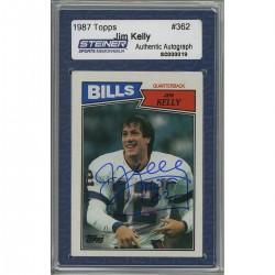 Steiner Sports - KELLCDB000000 - Jim Kelly Signed 1987 Topps Rookie Card w HOFInsc. (Slabbed by Steiner)