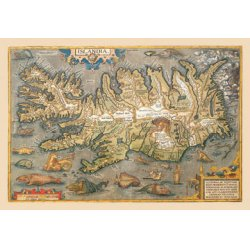Buyenlarge - 09068-5CG12 - Map of Iceland 12x18 Giclee on canvas