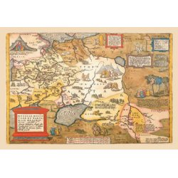 Buyenlarge - 09069-3CG12 - Map of Russia 12x18 Giclee on canvas
