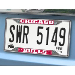 Fanmats - 14847 - NBA - Chicago Bulls License Plate Frame 6.25x12.25
