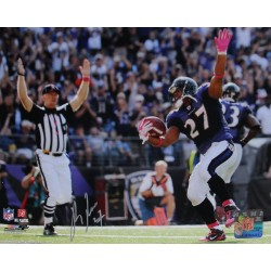 Steiner Sports - RICEPHS008043 - Ray Rice Touchdown Celebration Horizontal 8x10 Photo Signed in Silver