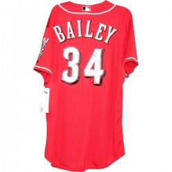 Steiner Sports - BAILJES000000 - Homer Bailey Cincinnati Reds Red Jersey w 2 no Hitters9-28-127-2-13 Insc. MLB Auth