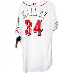 Steiner Sports - BAILJES000002 - Homer Bailey Signed Cincinnati Reds White Jersey (MLB AUTH)