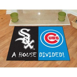 Fanmats - 12247 - Chicago White Sox - Chicago Cubs MLB House Divided Rugs 33.75x42.5
