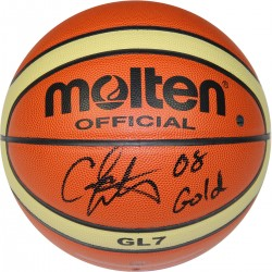 Steiner Sports - ANTHBKS000004 - Carmelo Anthony Molten FIBA Official Olympic Basketball w 2008 Gold Insc.