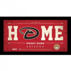 Steiner Sports - DIAMPHA006003 - Arizona Diamondbacks 6x12 Home Sweet Home Sign with Game-Used Dirt from Chase Field