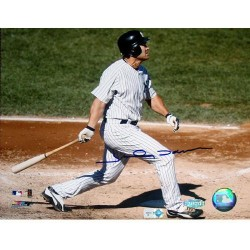 Steiner Sports - DAMOPHS016050 - Johnny Damon Horizontal Swing Home Jersey 16X20 MLB Auth