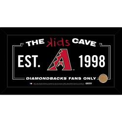 Steiner Sports - DIAMPHA006004 - Arizona Diamondbacks 6x12 Kids Cave Sign w Game Used Dirt from Chase Field