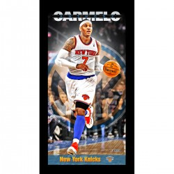 Steiner Sports - ANTHPHA009000 - Carmelo Anthony New York Knicks Player Profile Wall Art 9.5x19 Framed Photo