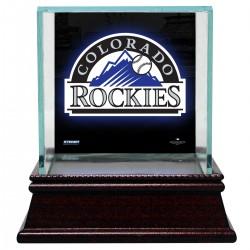 Steiner Sports - CASEBAUSI01CR - Colorado Rockies Glass Single Baseball Case with Team Logo Background