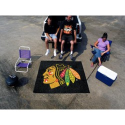 Fanmats - 10369 - Chicago Blackhawks Tailgater Rug 5x6