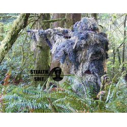 StealthSuit - ST-10003WXL - Paintball Sniper 4-Piece Woodland Ghillie Suit - XL