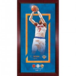 Steiner Sports - ANTHPHA016004 - Carmelo Anthony Player Collage 16x32 Framed Photo w Game Used Net Jersey and Basketball
