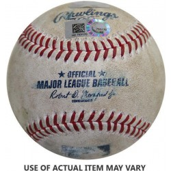 Steiner Sports - 2014NYYBAU00055 - Indians at Yankees 8-08-2014 Game Used Baseball MLB AuthHZ603196 - 226Jeter Tied Wagner