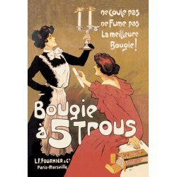 Buyenlarge - 01524-1P2030 - Bougie a 5 Trous (Candle with Five Holes) 20x30 poster