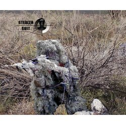StealthSuit - ST-10003DXL - Paintball Sniper 4-Piece Desert Ghillie Suit - XL