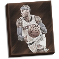 Steiner Sports - ANTHCAA022001 - Carmelo Anthony Russet Canvas Collection Stretched 22x26 Canvas