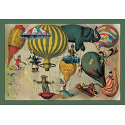 Buyenlarge - 01521-7P2030 - Balloonists as Symbols of Nationalism - Elephant, spool and ballons of various shapes a harbinger of modern bal