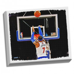 Steiner Sports - ANTHCAA022000 - Carmelo Anthony Shooting Back View Stretched 22x26 Canvas