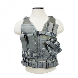 NcSTAR - CTVC2916D - Vism By Ncstar Tactical Vest/Digital Camo Xs-s