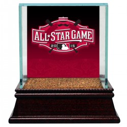 Steiner Sports - CASEBAU000012 - 2015 All-Star Game Logo Glass Baseball Case w Game Used Dirt From Game