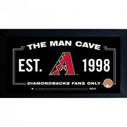 Steiner Sports - DIAMPHA010000 - Arizona Diamondbacks Man Cave Framed 10x20 Sign w Authentic Game-Used Dirt (MLB Auth)