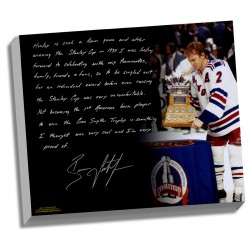 Steiner Sports - LEETCAA022000 - Brian Leetch Facsimile 1st American Conn Smythe Winner Stretched 22x26 Story Canvas