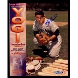 Steiner Sports - BERRPHS008158 - Yogi Berra Signed Kneeling by Equipment Career Collage 8x10 Photo