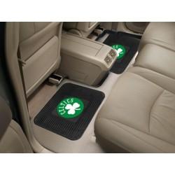 Fanmats - 12433 - NBA - Boston Celtics Backseat Utility Mats 2 Pack 14x17