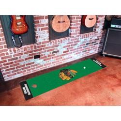 Fanmats - 10373 - Chicago Blackhawks Putting Green Mat