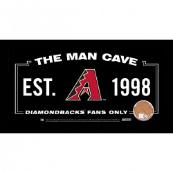 Steiner Sports - DIAMPHA006001 - Arizona Diamondbacks Man Cave Sign 6x12 Framed Photo With Authentic Game-Used Dirt (MLB Authenticated)