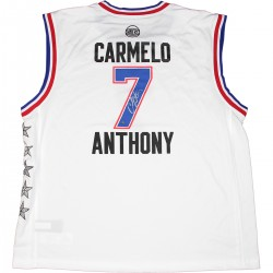 Steiner Sports - ANTHJES000009 - Carmelo Anthony Signed 2015 All-Star Replica White Jersey