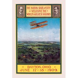 Buyenlarge - 01220-XCG28 - Dayton Ohio Welcomes the Wright Brothers 28x42 Giclee on Canvas