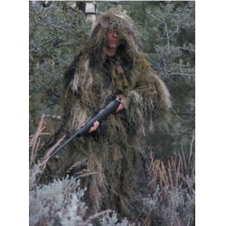 BushRag - ULT-1LJ WD M/L - Ultra-Light Long Ghillie Jacket Medium-Large Woodland