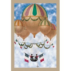 Buyenlarge - 01517-9P2030 - Balloon Flotill Highly Decorated Balloons sport the Italian Flag and its colors 20x30 poster