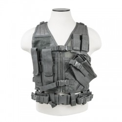 NcSTAR - CTVC2916U - Vism By Ncstar Tactical Vest/Urban Gray Xs-s
