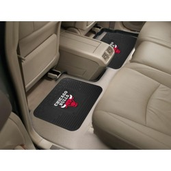 Fanmats - 12366 - NBA - Chicago Bulls Backseat Utility Mats 2 Pack 14x17