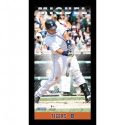 Steiner Sports - CABRPHA009000 - Miguel Cabrera Detroit Tigers Player Profile Wall Art 9.5x19 Framed Photo