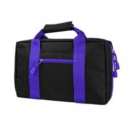 NcSTAR - CPBPR2903 - Vism By Ncstar Discreet Pistol Case/Black W/Purple Trim