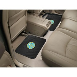 Fanmats - 12369 - NBA - Denver Nuggets Backseat Utility Mats 2 Pack 14x17