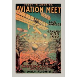 Buyenlarge - 01511-XP2030 - First in Americ Aviation Meet - BiPlanes and Balloons Cover the sky in Los Angeles Valley for a first ever Mee