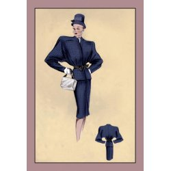 Buyenlarge - 07151-6CG28 - Navy Cardigan Suit 28x42 Giclee on Canvas