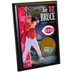 Steiner Sports - BRUCPLU004000 - Jay Bruce Reds 4x6 Dirt Plaque