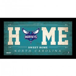 Steiner Sports - HORNPHA006003 - Charlotte Hornets 6x12 Home Sweet Home Sign